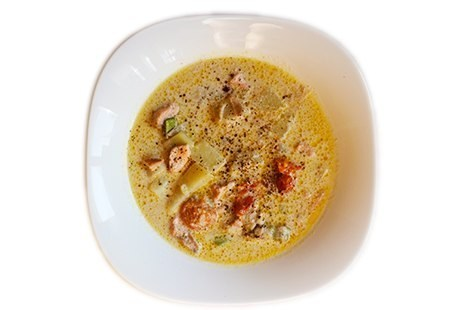 Лапландский сливочный суп с лососем