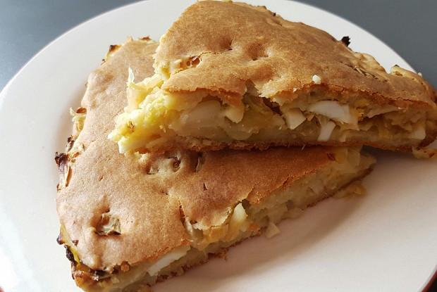 Быстрый капустный пирог с яйцом