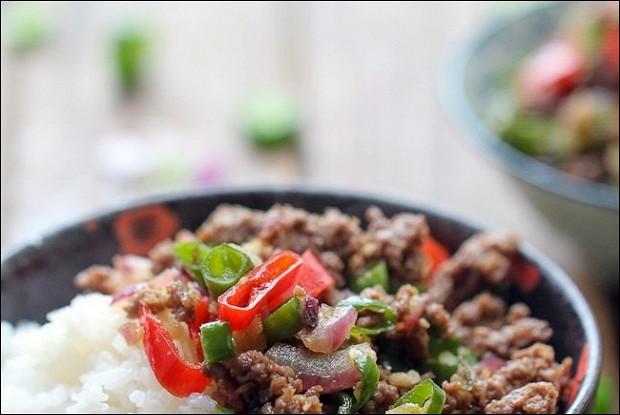 Рис с пряной говядиной