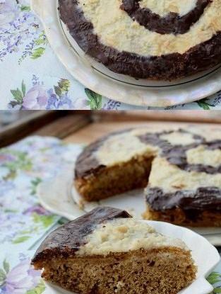 Бисквит с белым и черным шоколадом