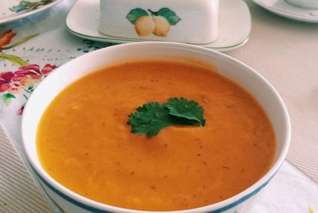 Крем-суп из тыквы с зеленью