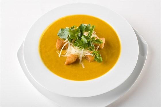 Тыквенный суп со сливками и пармезаном