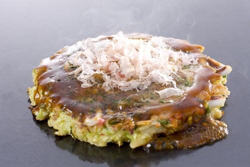Японские капустные блины (Okonomiyaki)