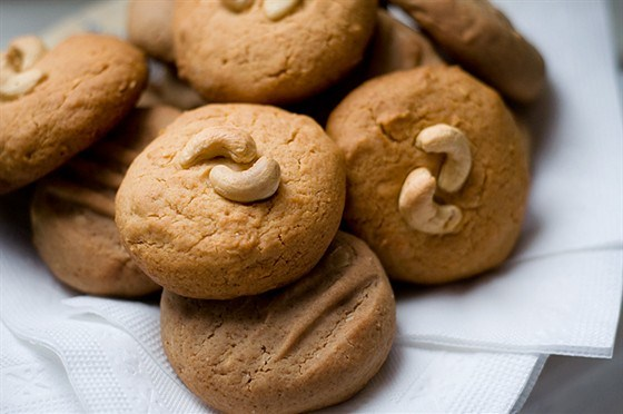 Сливочное печенье с кешью