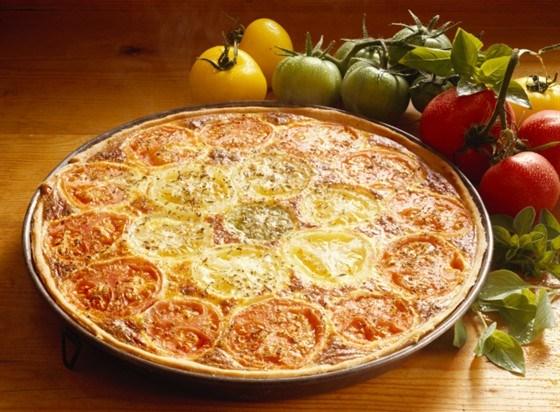 Тарт с томатами и сырным кремом по-итальянски