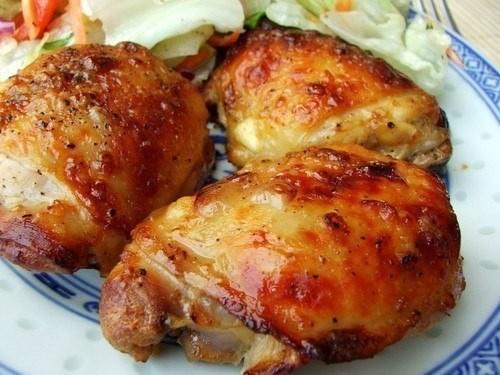 Запечённые куриные бёдрышки