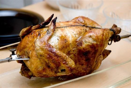 Цыпленок на вертеле