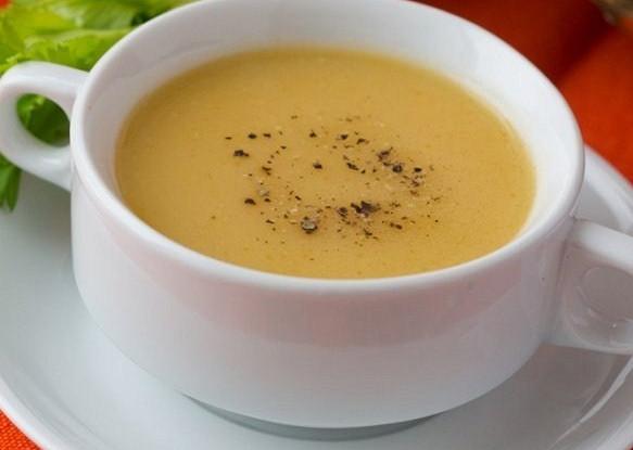 Суп-пюре из тыквы с помидорами