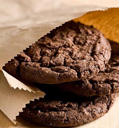 Шоколадно-кофейное воздушное печенье