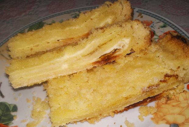 Творожный пирог из насыпного теста