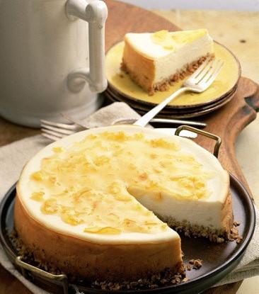 Пасхальный лимонный чизкейк