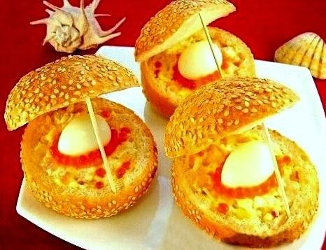Бутерброд «Морская раковина»