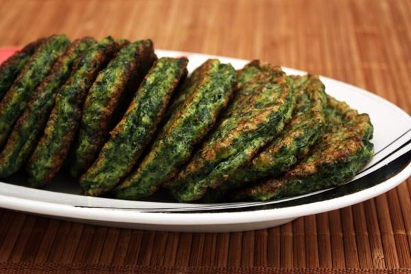 Оладушки с брокколи и сыром