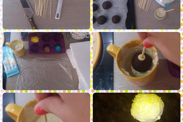 Пирожные на палочке (cake pops)