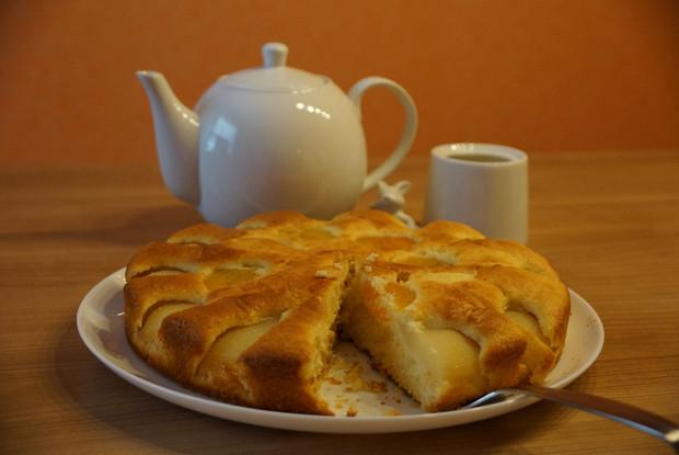 Грушево-абрикосовый пирог