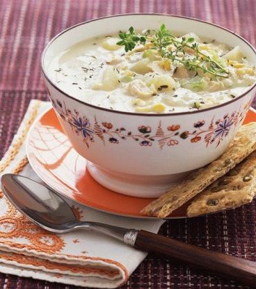 Кукурузно-картофельный чаудер с сыром