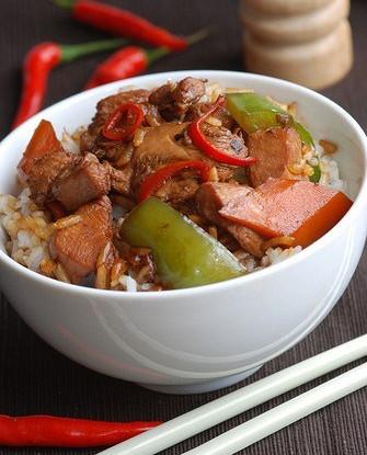 Курица с чили и специями по-бирмански