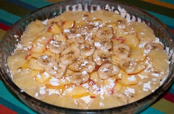 Легкий пирог с фруктами