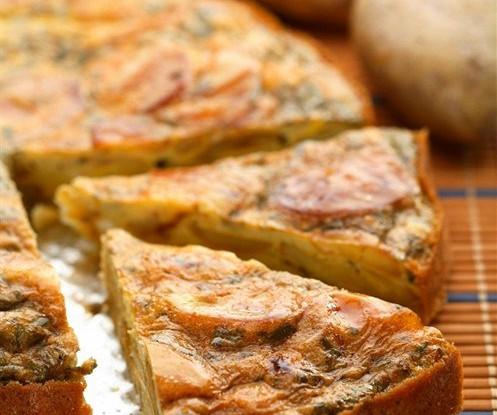 Тортилья с сыром и кедровыми орешками