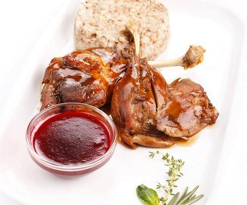 Малиновый соус с красным вином для птицы