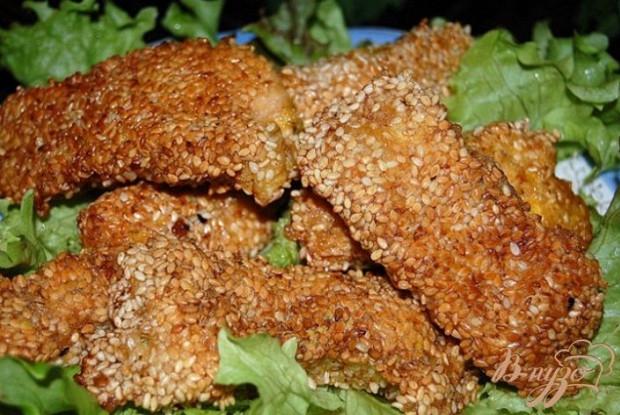 Куриные наггетсы с панировкой из свежего хлеба