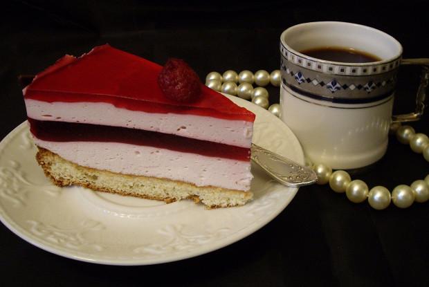 Клюквенный торт-мусс