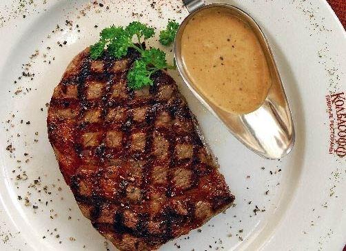 Рибай-стейк на гриле с перечным соусом по рецепту ресторана «Колбасофф»