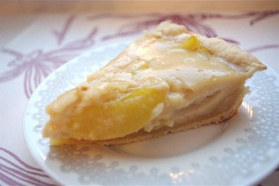 Торт из персиков со сметанным кремом
