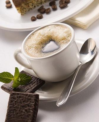 Горячий кофейный флип с мятой