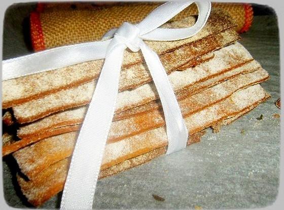 Постные ржаные хлебцы с тмином