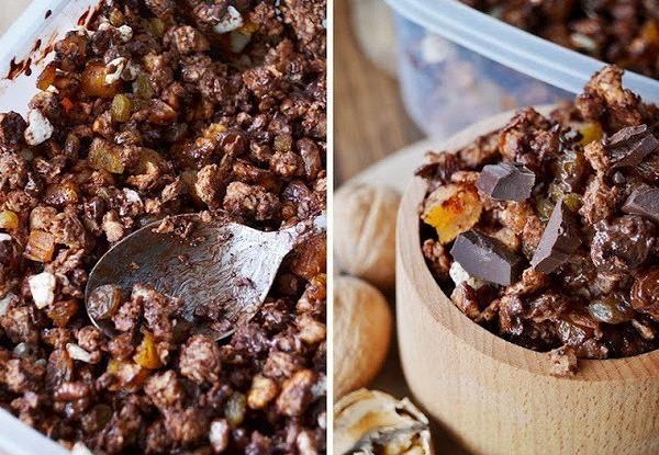 Гранола с шоколадом и мелиссой
