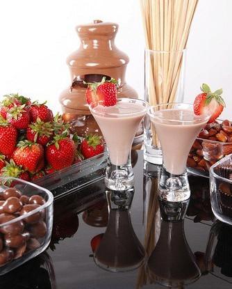 Шоколадно-клубничный смузи