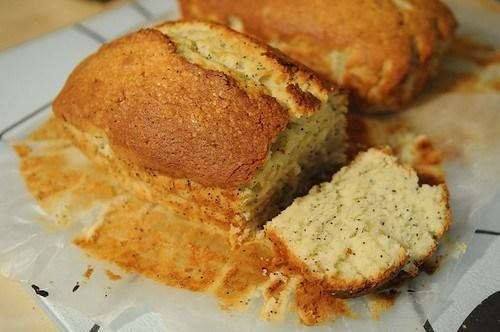 Лимонный кекс с маком на пахте