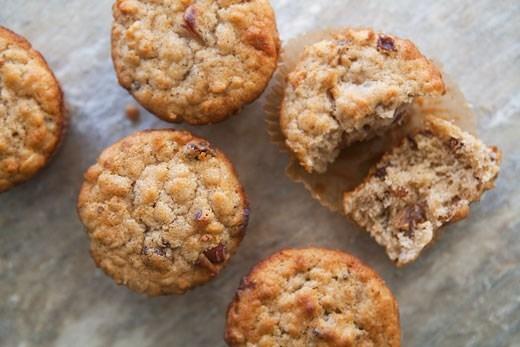 Кексы с изюмом и яблочным пюре