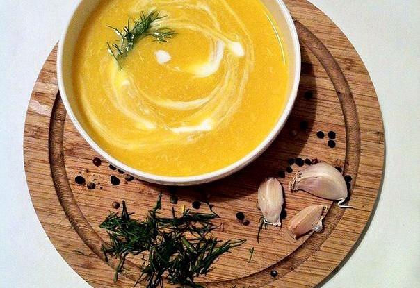 Диетический крем-суп из тыквы