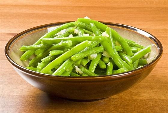 Жареная зеленая фасоль