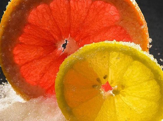 Апельсины или лимоны в сахаре