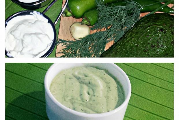 Соус из авокадо и жареных зеленых чили