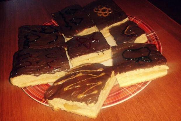 Шоколадные пирожные с джемом