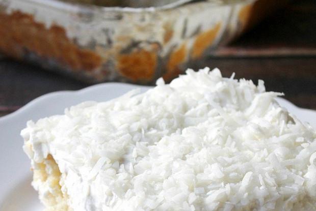 Кокосовые пирожные с кремом