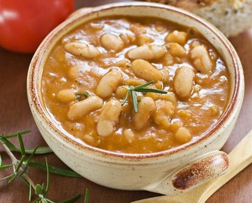 Постный суп из фасоли