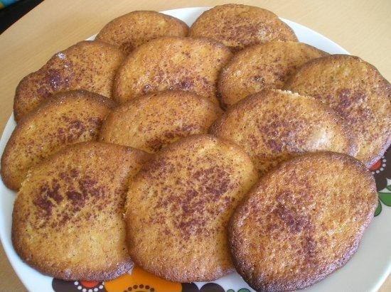 Банановое печенье с орехами и корицей