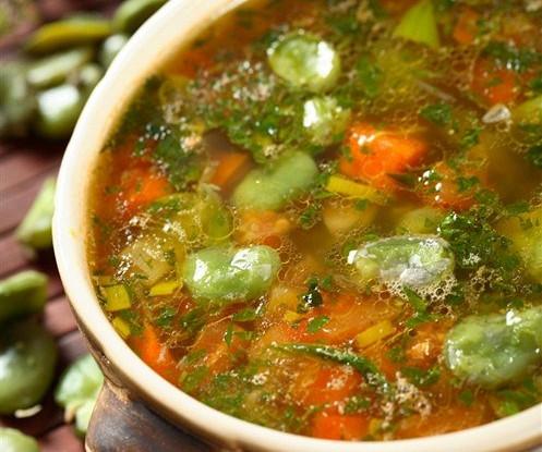 Овощной суп с зеленью