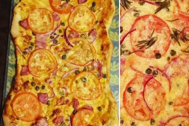 Пицца с беконом и каперсами