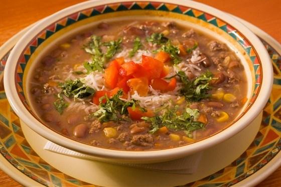Суп с мясными консервами