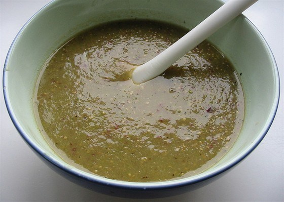 Желтый соус барбекю из томатилло