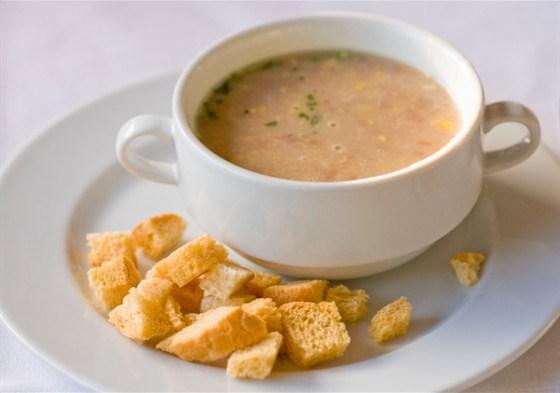 Суп с куриной печенкой