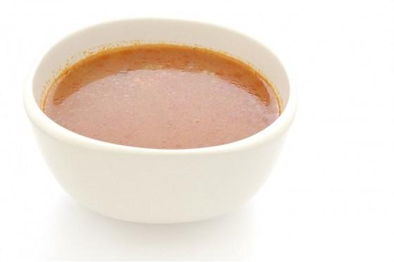 Суп-пюре помидорный с чесноком