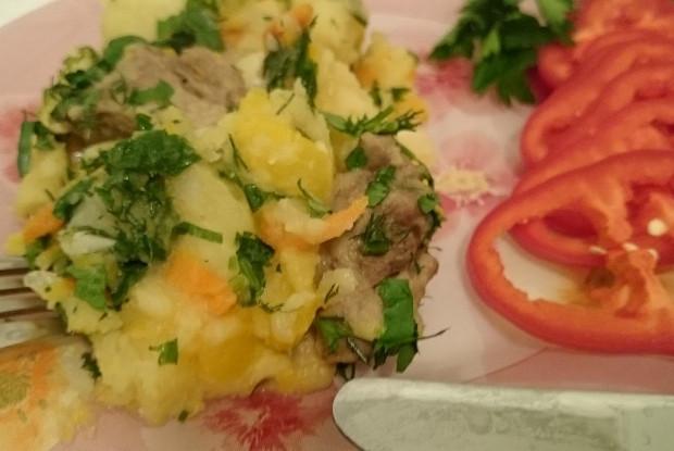 Тушеный картофель с тыквой