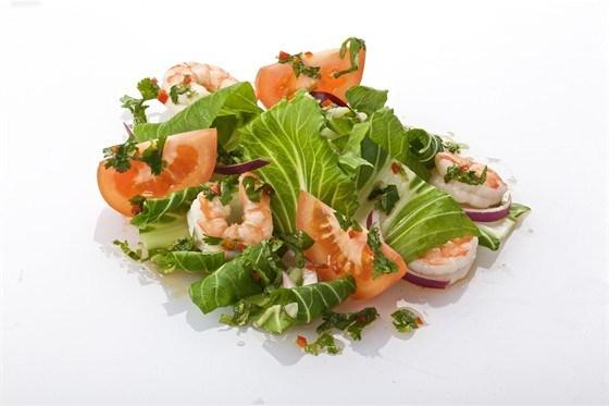 Салат пак-чой с креветками